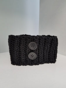Headband - Black with Buttons