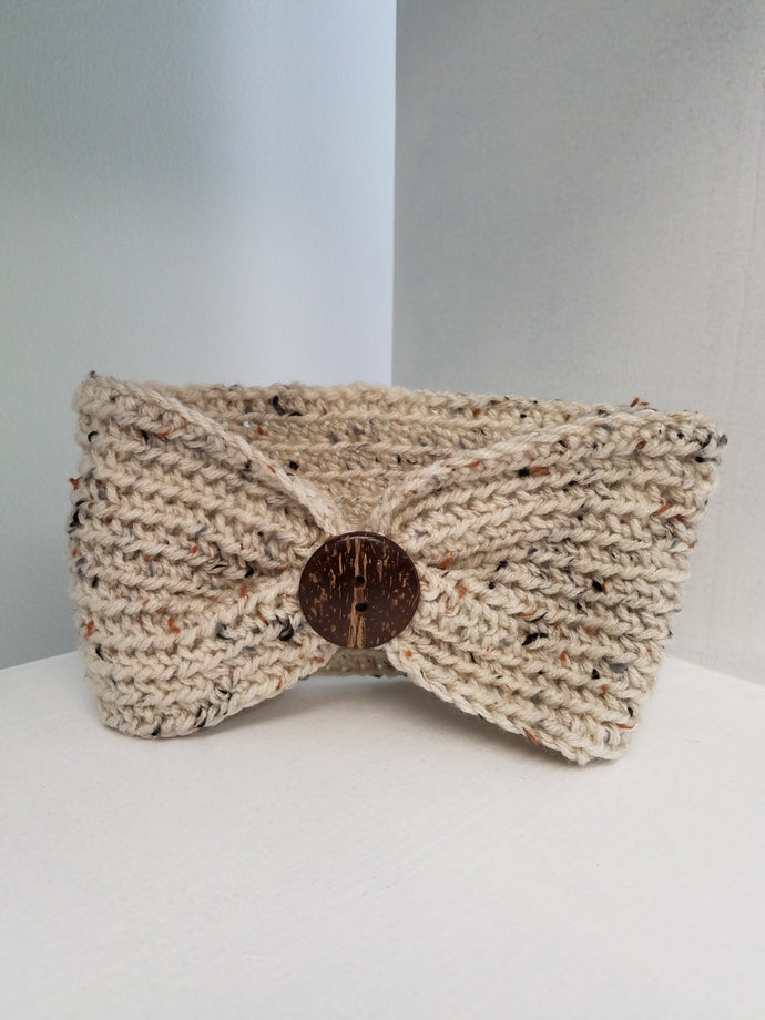 Headband - Ivory Blend with Button
