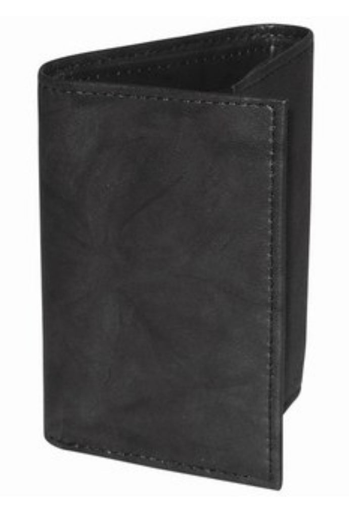 Credit Card Three Fold Men's Leather Wallet