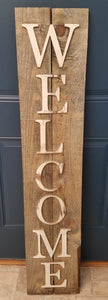 5ft Welcome Signs on Reclaimed Wood