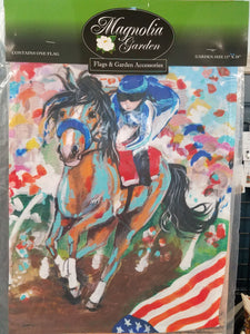 Garden Flag - Horse and Jockey
