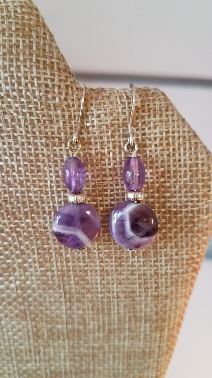 Purple Moon Earrings by Lasca Kisslinger