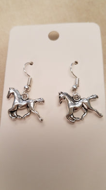 Horse Earrings -- Pierced