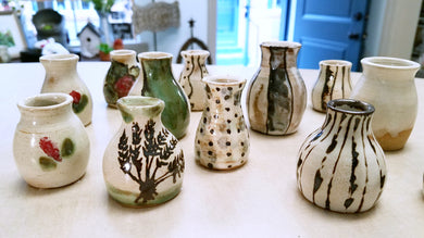 Mini Vases by Susan Layne Pottery