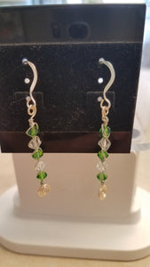 Green Trees Earrings by Lasca Kisslinger