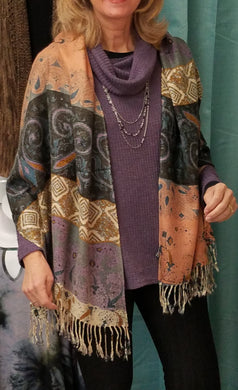 Shawl / Scarf in Paisley Print Style