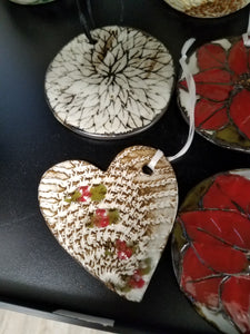 Ornaments by Susan Layne Pottery