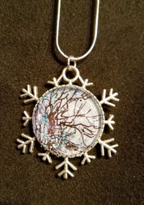 Snowflake Necklace w/Tree