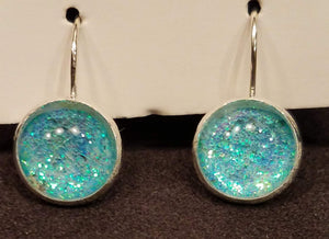 Sparkly Turquoise Earrings
