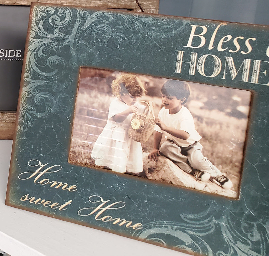 Bless Our Home Photo Frame