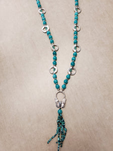 Turquoise with Butterfly Necklace