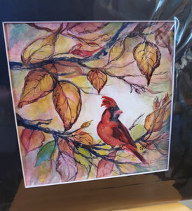 """Autumn Bird"" Watercolor Painting"