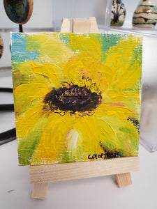 """Sunflower"" Mini Alkyd Painting"