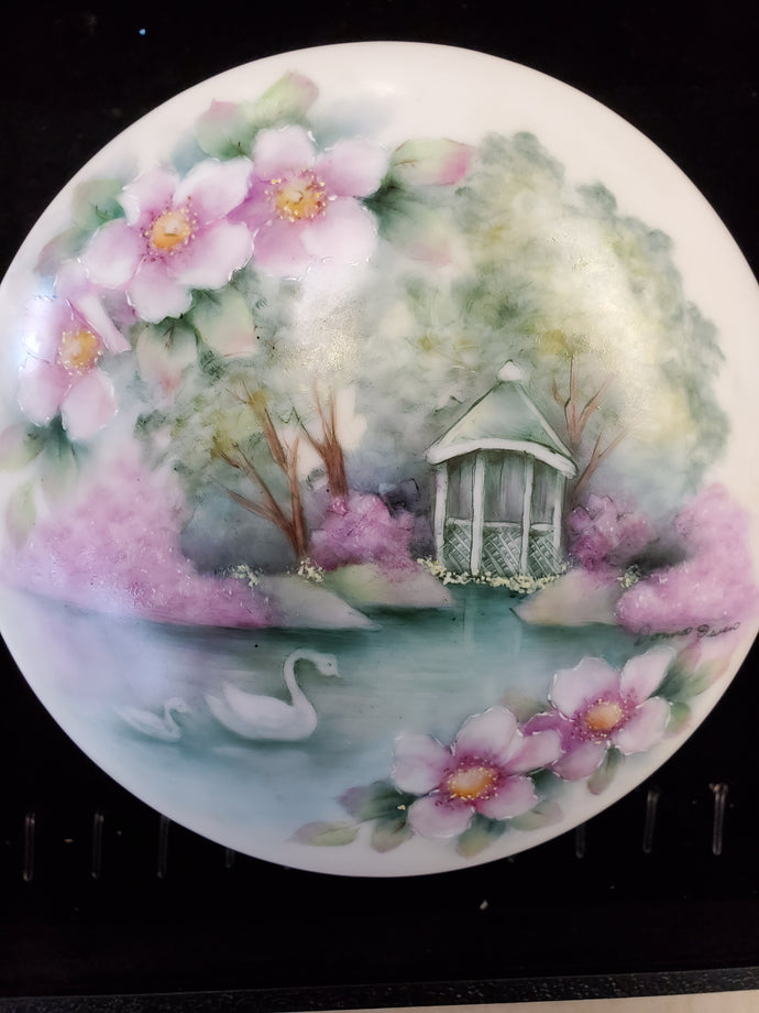Hand-Painted Porcelain Jewelry Box