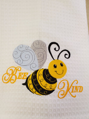 Bee Kind Embroidered Tea Towel - 2 Styles