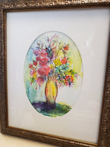 """Bouquet"" Watercolor Framed Painting"