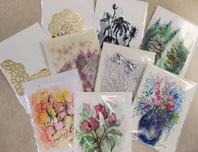 Hand-Painted Greeting Cards by Charlotte Ploetner