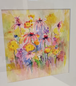 """Sunshine and Petals"" Watercolor Painting"