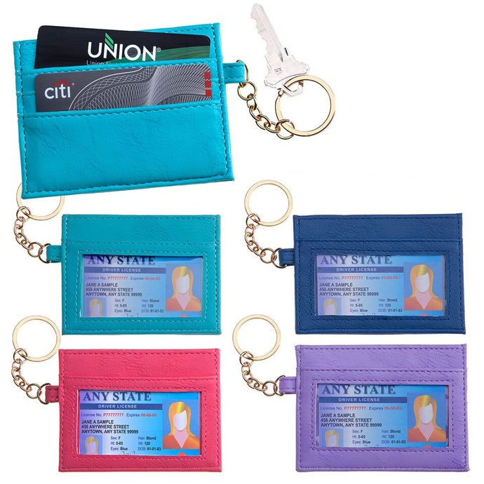 RFID Credit Card Wallet w/Keychain