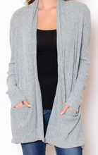 Load image into Gallery viewer, Sweater Knit Pocket Cardigan - Light Gray