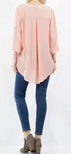 Load image into Gallery viewer, Lightweight Fashion Top w/fold-over sleeve