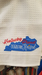 Ky Born Embroidered Tea Towel