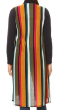 Load image into Gallery viewer, Open Cardigan w/ Striped Back
