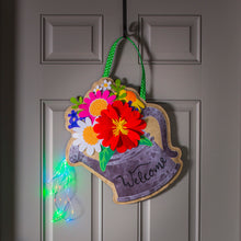 Load image into Gallery viewer, Lighted Watering Can Door Decor w/ 3D Accents