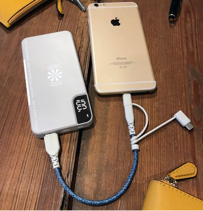 CHARGE POWER BANK / QI CHARGER / PHONE STAND