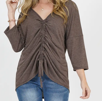 Reversible Ruched Top