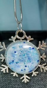 Snowflake Ice Blue Necklace