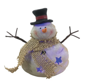 LED Lighted Snowman