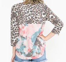 Load image into Gallery viewer, Leopard Dusty Pink Fashion Top