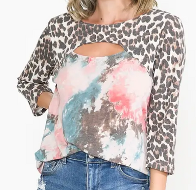 Leopard Dusty Pink Fashion Top