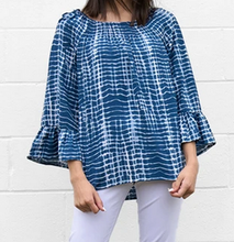Load image into Gallery viewer, Tie-Dye Peasant Blouse - On or Off Shoulder