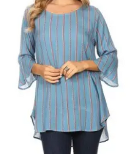 Vertical Striped Blouse