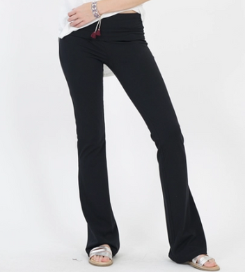 Black Yoga Flare Pants - Also in PLUS SIZES!