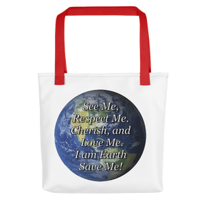 I am Earth Reusable Tote bag