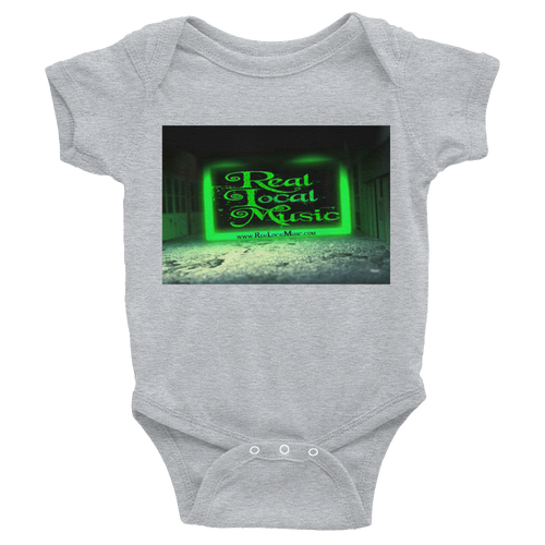 Real Local Music logo 6m-24m Infant Bodysuit