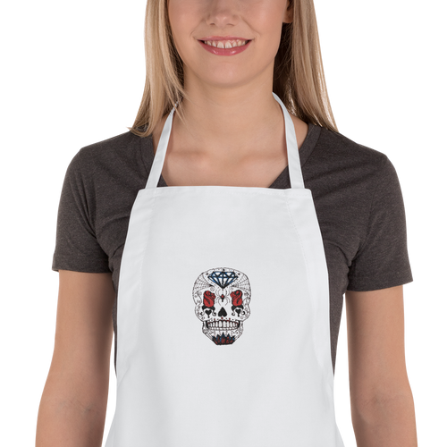 Queen of Rose Embroidered Apron