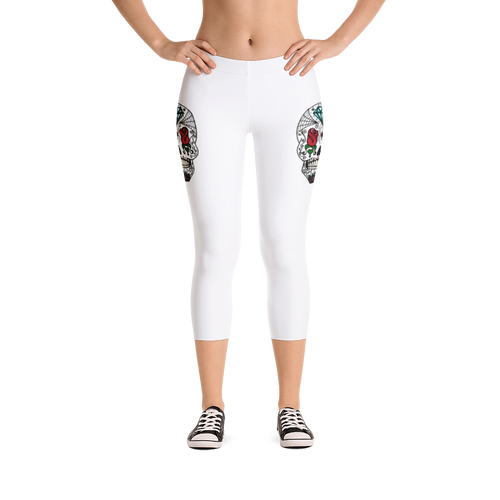 Queen of Rose Capri Leggings
