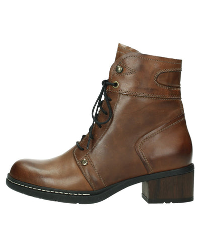 WOLKY 01260 RUGGED LACE BOOT - COGNAC