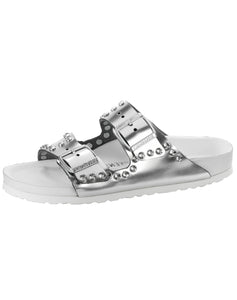 BIRKENSTOCK ARIZONA DIAMOND MET SILVER NL NARROW