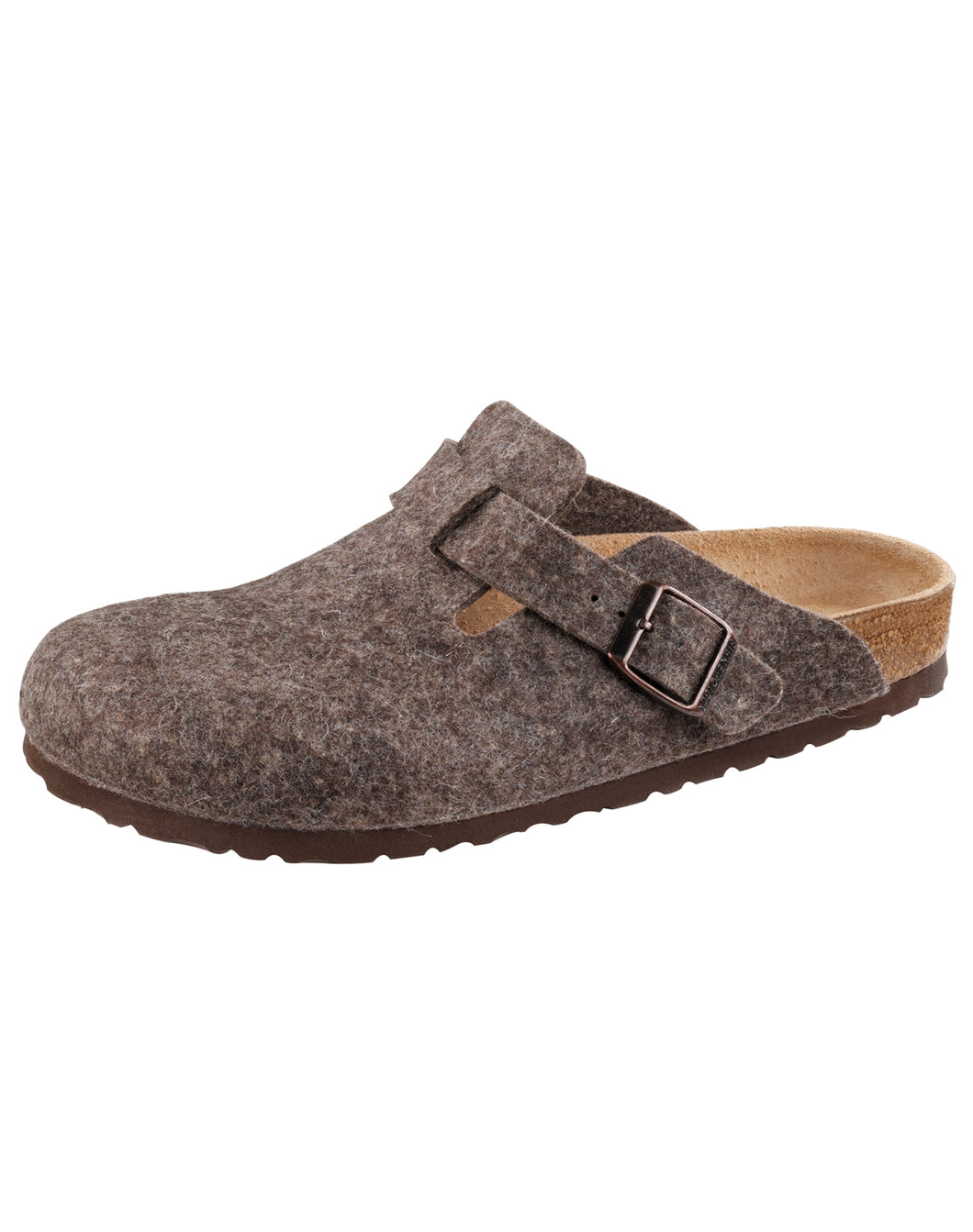BIRKENSTOCK BOSTON COCOA FELT NARROW