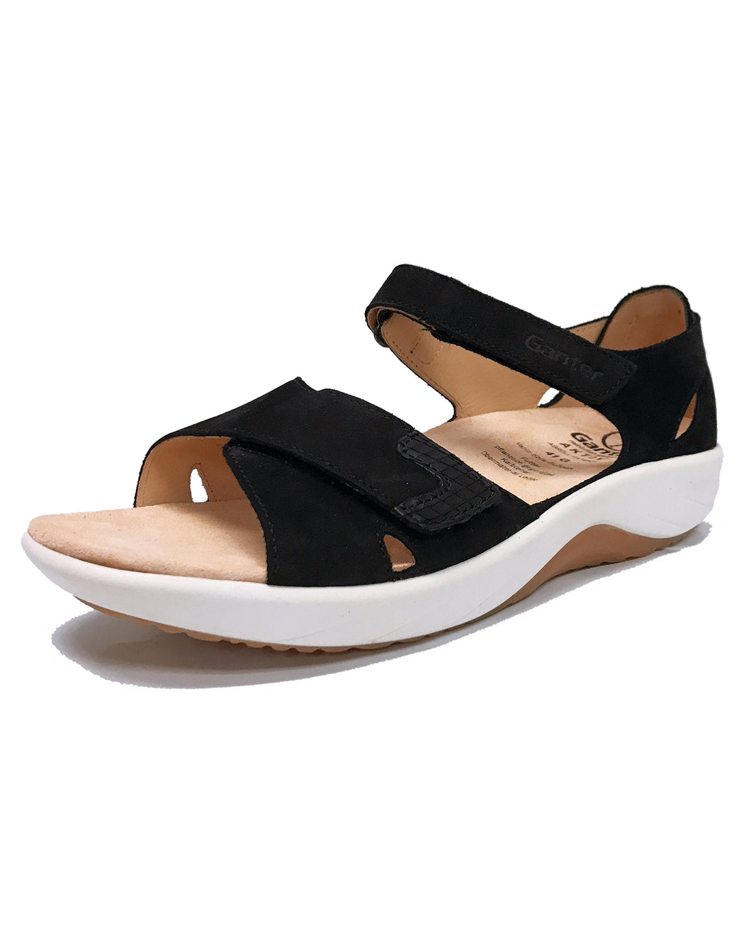 GANTER 204062 GENDA OPEN TOE BLACK
