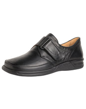 Load image into Gallery viewer, GANTER 256711 KURT VELCRO SHOE - BLACK CALF