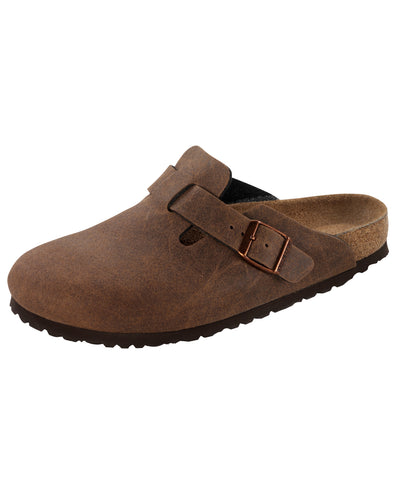 BIRKENSTOCK BOSTON COCOA BROWN MF VEGAN REGULAR