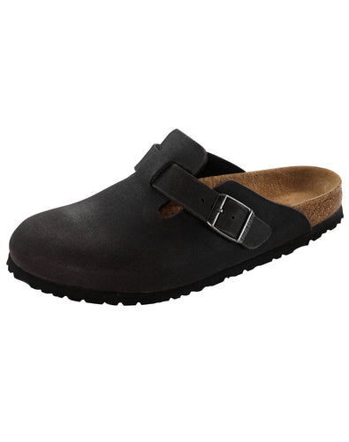 BIRKENSTOCK BOSTON ANTHRACITE MF VEGAN NARROW