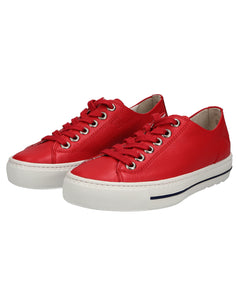 PAUL GREEN 4704PG LACE UP SHOE - RED CALF