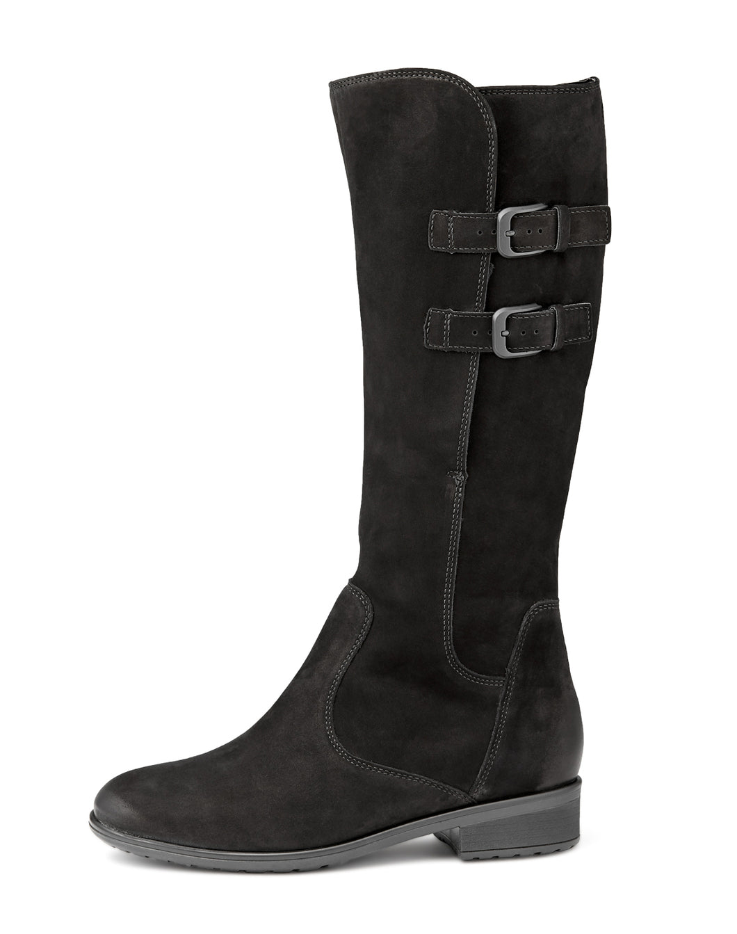 ARA 49525 TALL BOOT BLACK NUBUCK